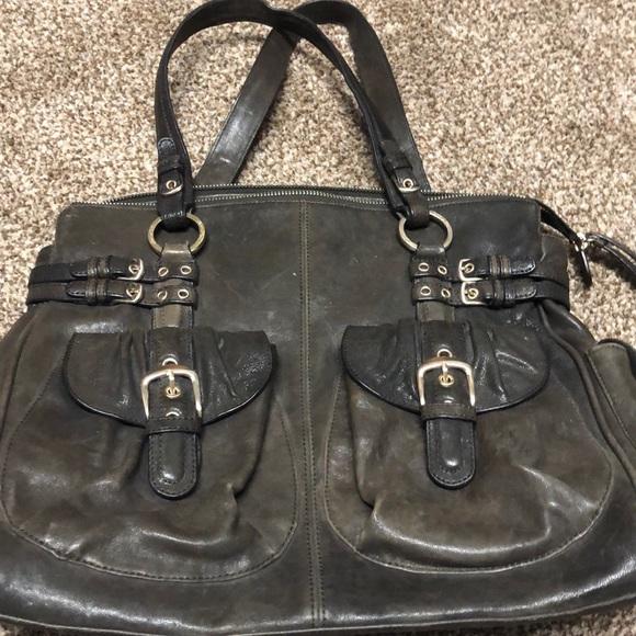 Junior Drake Handbags - Junior Drake Leather Purse Brown Metallic